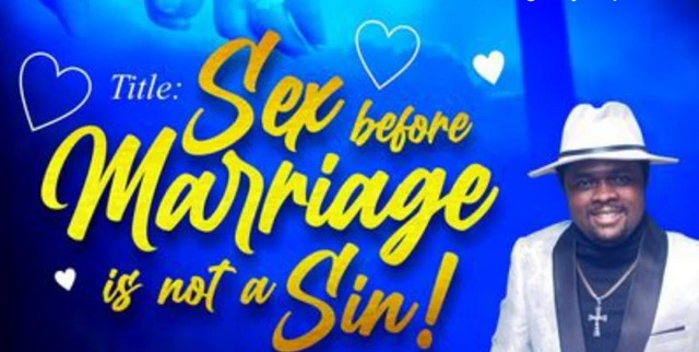 VIDEO: Pastor Says S3x Before Marriage Is Not A Sin