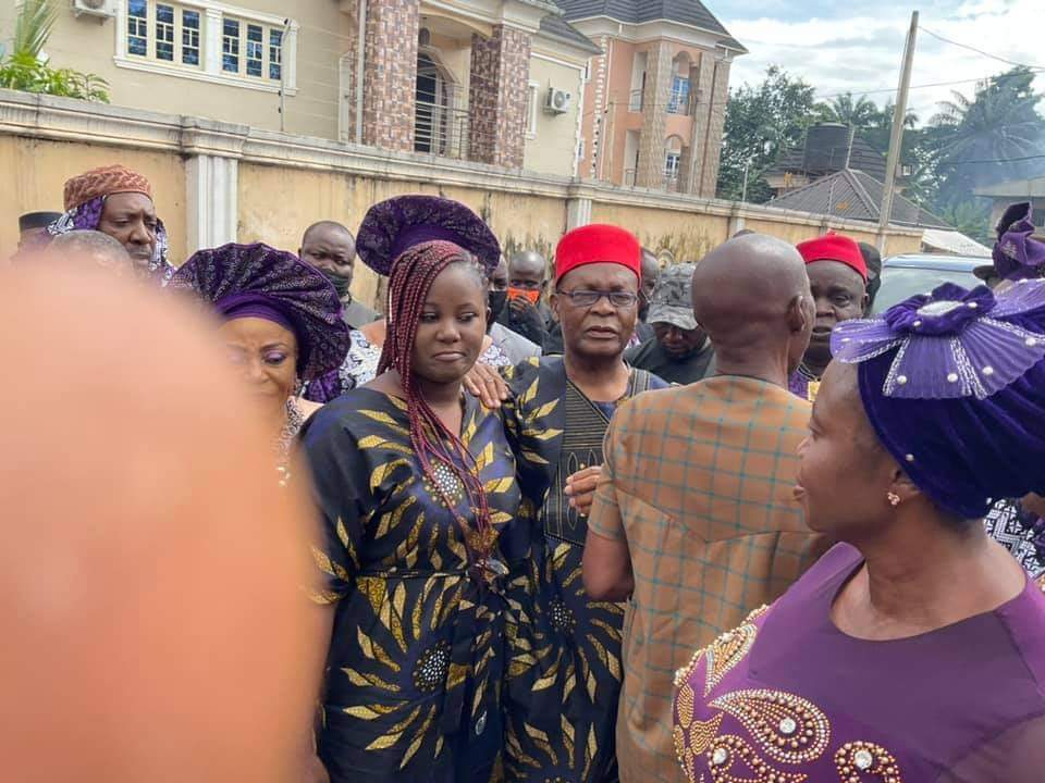 Igbokwe in Anambra for his mother-in-law's burial