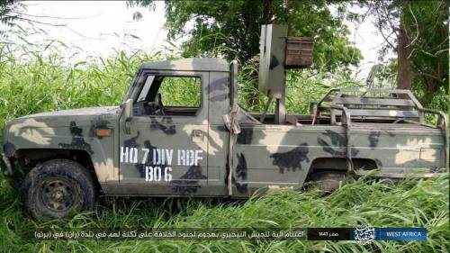 Innoson military vehicle captured from Nigerian soldiers by ISWAP terrorists